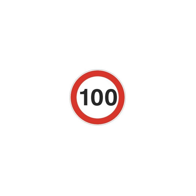 Tablica ADR Ograniczenie prędkości 100km/h 20x20