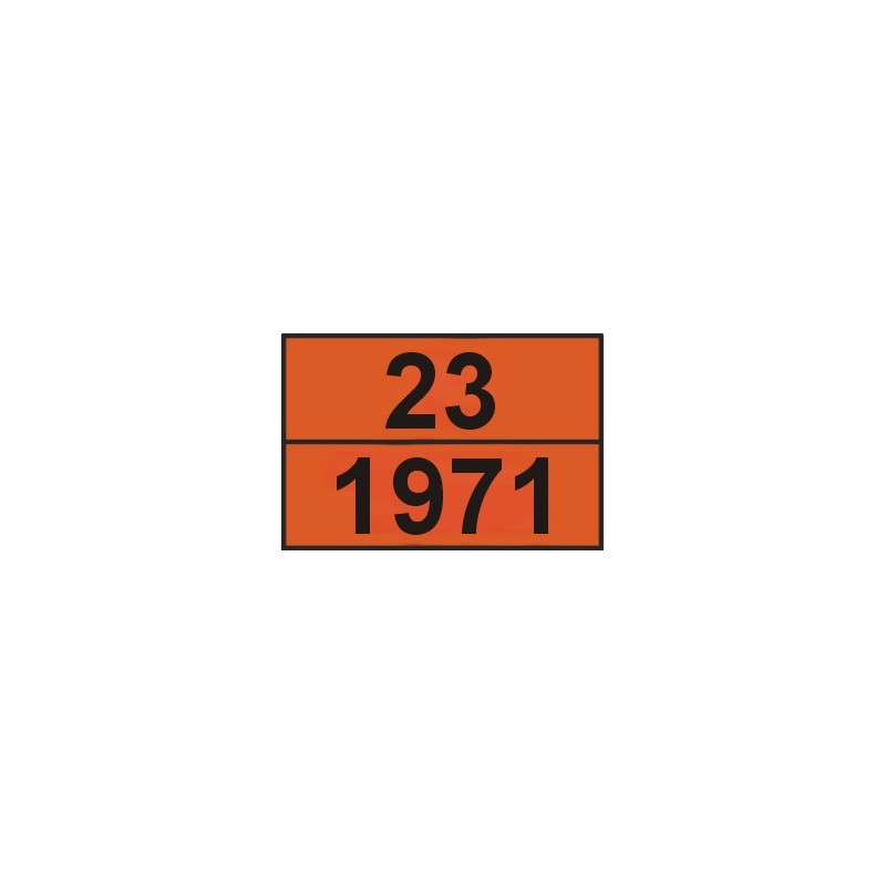 Tablica ADR 001/2 cyfrowa /23-1971/ 300x400 AL