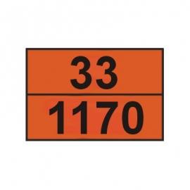 Tablica ADR 001/3 cyfrowa /33-1170/ 300x400 AL