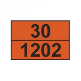 Tablica ADR 001/1 cyfrowa /33-1203/ 300x400 AL