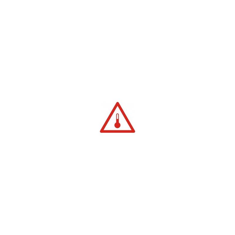 Tablica ADR 017/ 7 Subst. o podw. temp. 300x300 AL