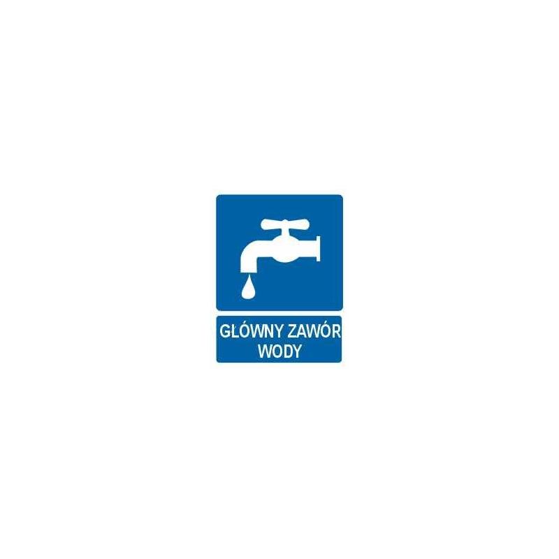 Znak Główny zawór wody 150x200 PB