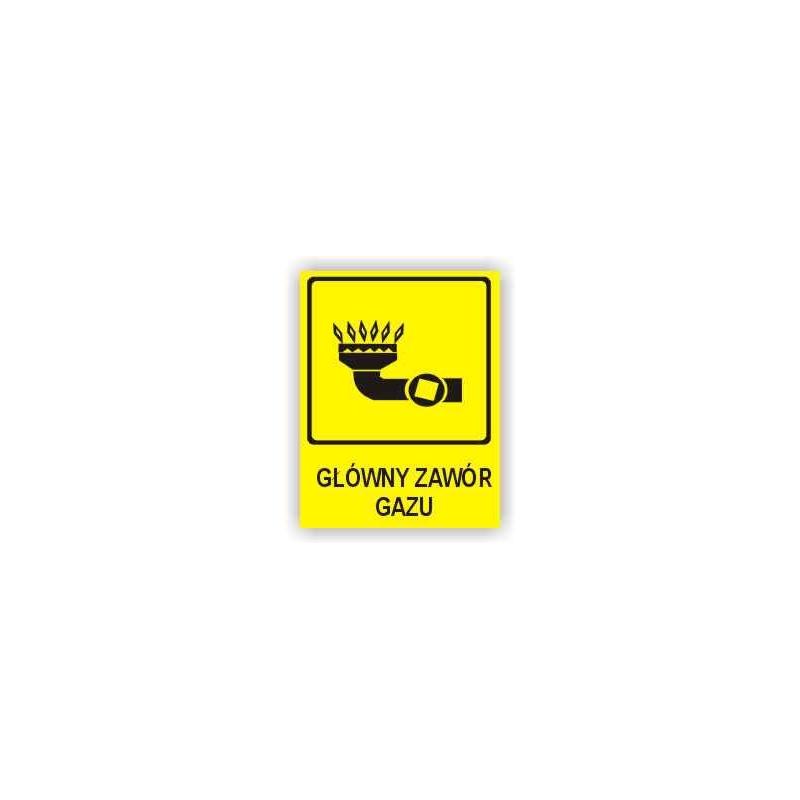 Znak Główny zawór gazu 150x200 PB