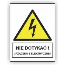 Znak 19 Nie dotykać Urządzenie elektr. 105x148 PB