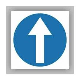 Znak Nakaz jazdy prosto 330x330 PB