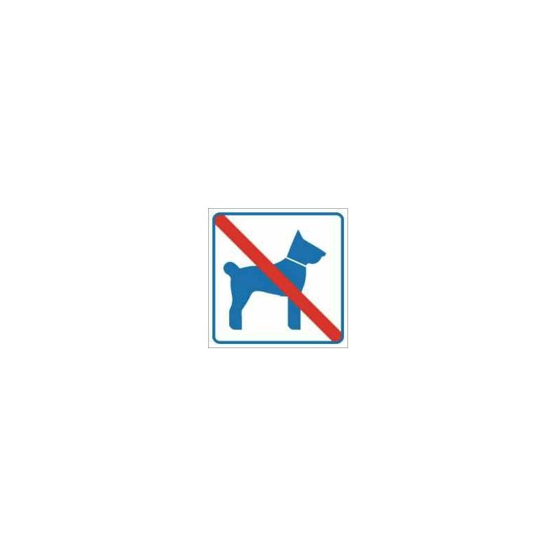 Znak Zakaz wstępu ze zwierzętami 100x100 PB