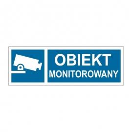 Znak 19 Obiekt monitorowany 300x100 PB