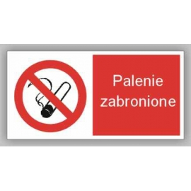 Znak 12 Palenie zabronione 400x200 PB