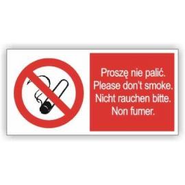 Znak 12 Proszę nie palić 400x200PB