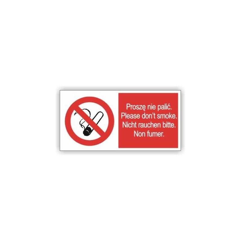Znak Proszę nie palić 400x200PB