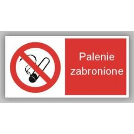 Znak 12 Zakaz palenia na terenie szkoły 400x200 PB