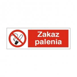 Znak 19 Zakaz palenia 100x300 PB