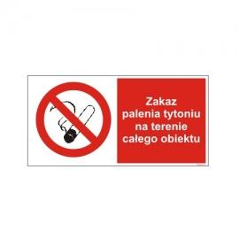 Znak 19 Zakaz  palenia w całym obiekcie 400x200