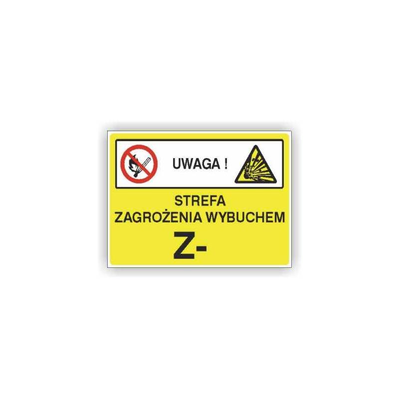 Znak Strefa zagrożenia wybuchem 350x250 PB