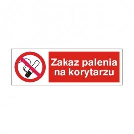 Znak 19 Zakaz palenia na korytarzu 100x300 PB
