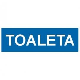 Znak 21 Toaleta 300x100 PB