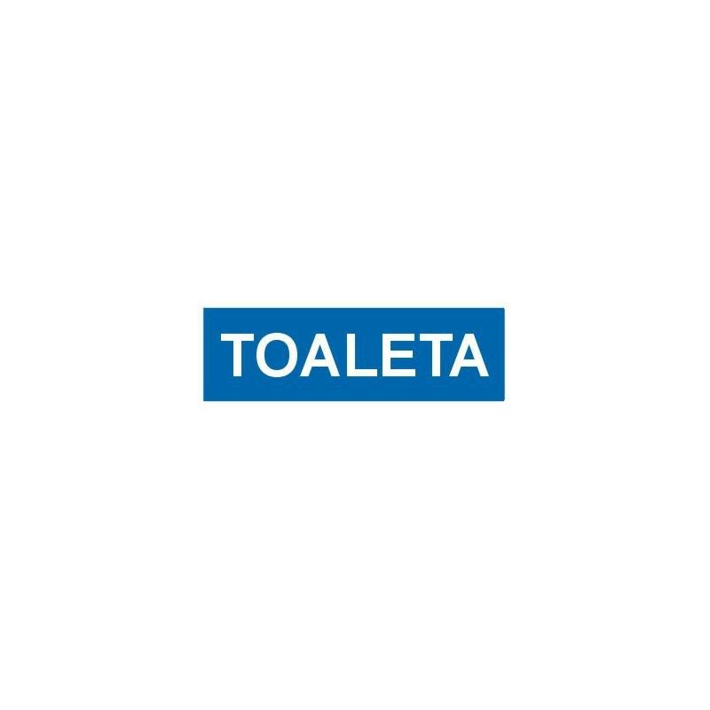 Znak Toaleta 300x100 PB