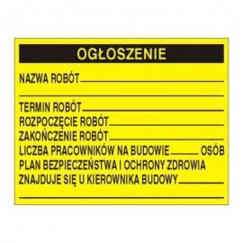 Znak Tablica ogłoszeniowa 700x450