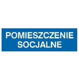 Znak Pomieszczenie socjalne 300x100 PB