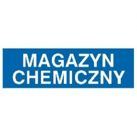 Znak Magazyn chemiczny 300x100 PB