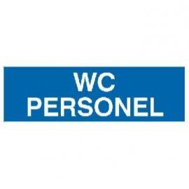 Znak 21 WC personel 300x100 PB