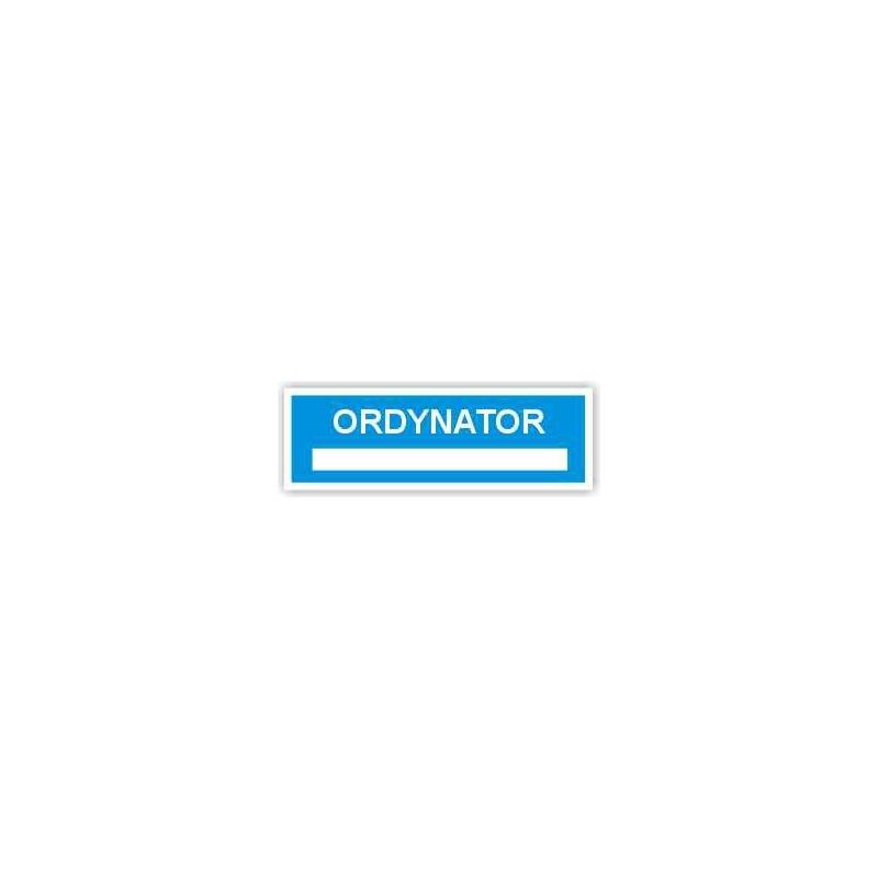 Znak Ordynator 300x100 PB