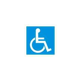 Znak WC dla inwalidów 100x100 PB
