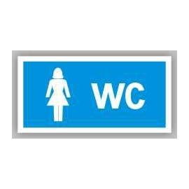 Znak WC Toaleta damska 200x100 PB