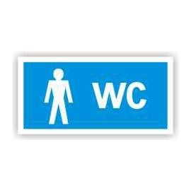 Znak WC Toaleta męska 200x100 PB