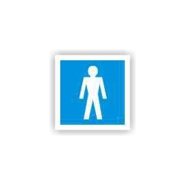 Znak 19 WC Toaleta męska 100x100 PB