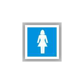 Znak 19 WC Toaleta damska 100x100 PB