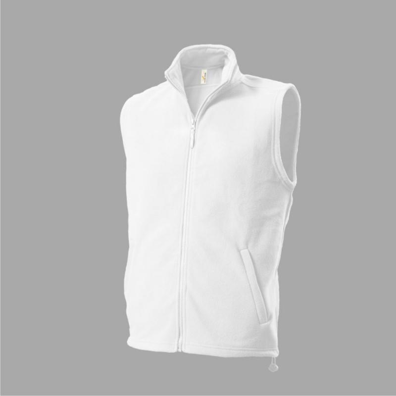 Kamizelka polarowa 402 Fleece Vest biała r.S