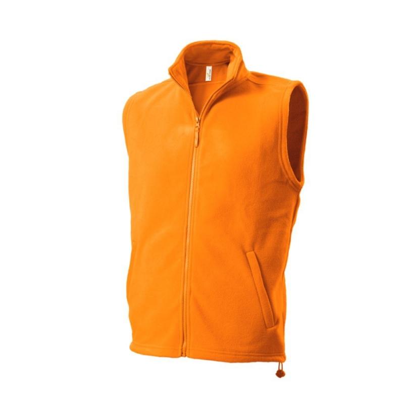 Kamizelka polarowa 402 Fleece Vest orange r.XS
