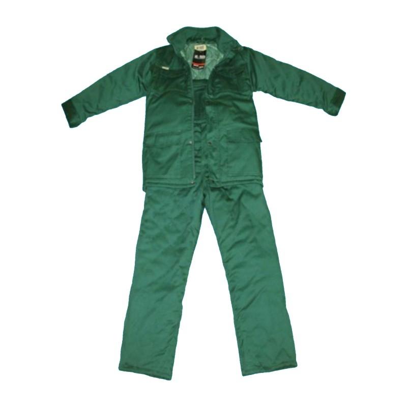 Ubranie robocze ocieplane zielone 176/114-118/128
