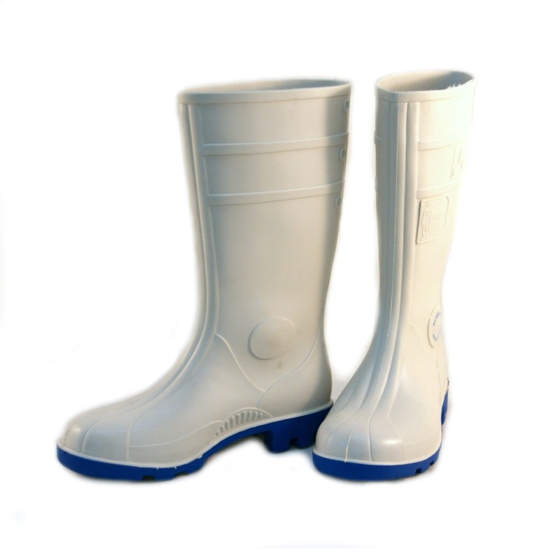 Buty - kalosze białe z podn.S4 dla spożyw.PCV
