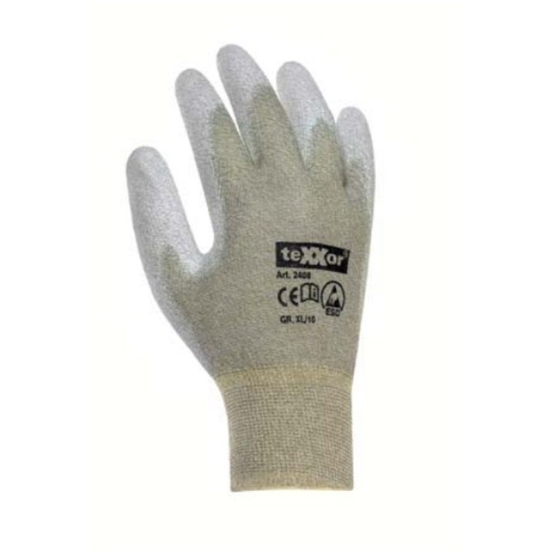 Rękawice dziane antyelektrostatyczne ESD TEXXOR