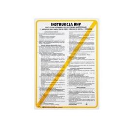 Instrukcja BHP przy obsł. wiertarki wielowrzeciono
