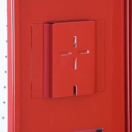 Szafka na gaśnice SG600 z oknem /M czerwona 3000