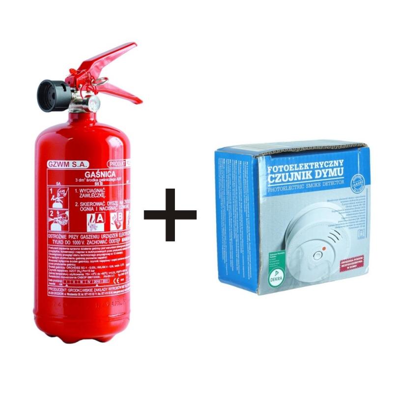 Gaśnica domowa płynowa 3 litry ABF + czujka dymu