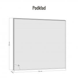 Znak Gaśnica PF + podkład 3D II 150x150x3mm PCV