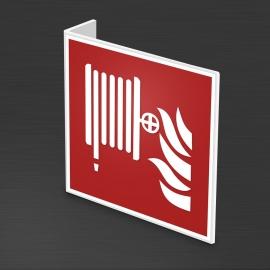 Znak 12 Hydrant PF + wysięgnik 3D L 200x200mm PCV