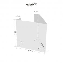 Wysięgnik do znaków 3D V 200x200 mm PCV