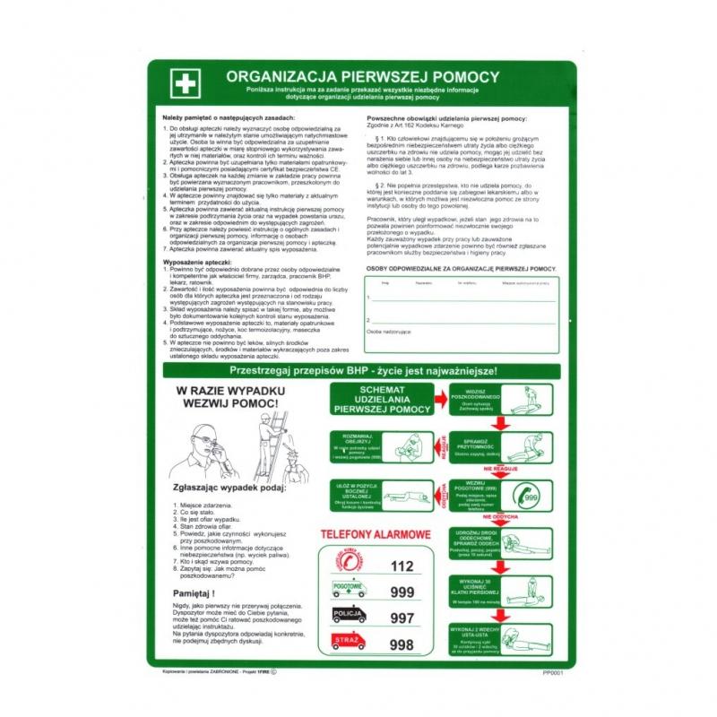 Instrukcja BHP Organizacja Pierwszej Pomocy