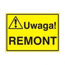 Znak Tablica Uwaga! Remont