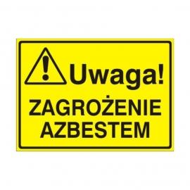 Znak Tablica Uwaga! Zagrożenie azbestem