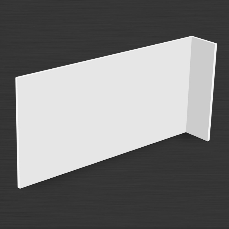 Wysięgnik do znaków 3D L 200x600mm PCV bezb/biały