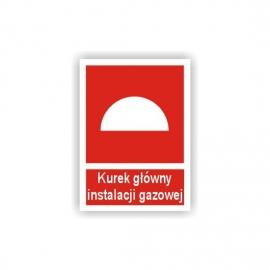Znak Kurek główny instalacji gazowej 150x200 PF