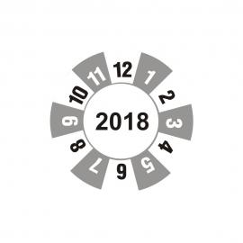 """Etykieta """"kółko z datą 2018"""" folia"""