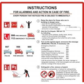 Instrukcja PPOŻ. alarmowania i postępowania po angielsku FS EN