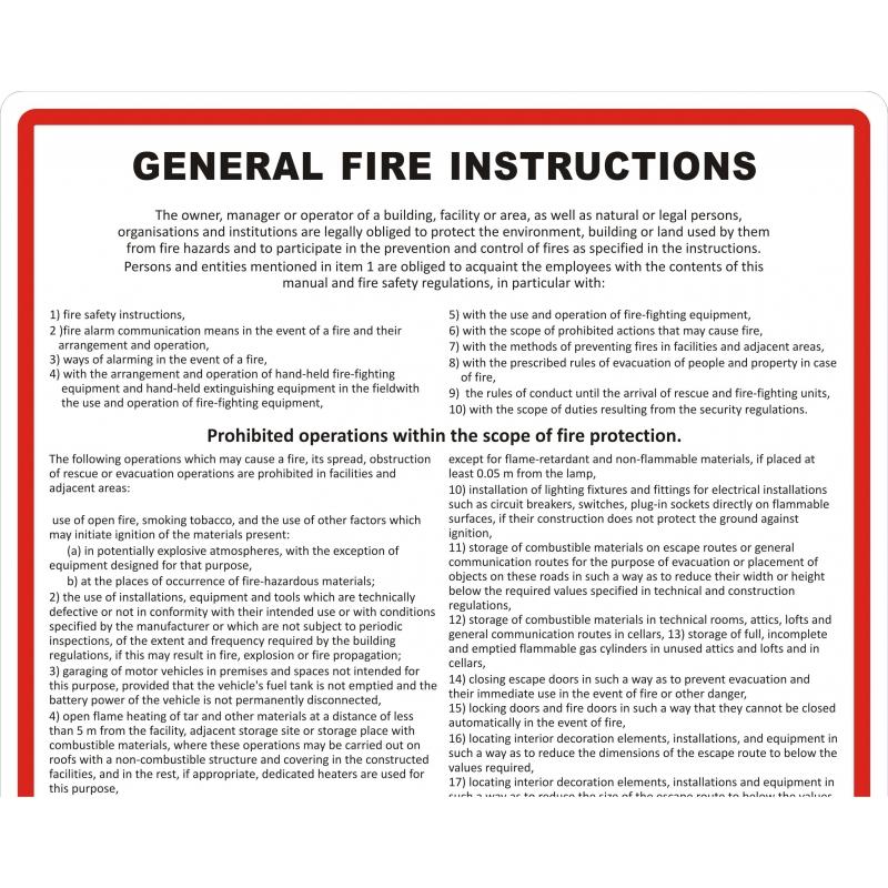 Instrukcja PPOZ ogólna przeciwpożarowa FS EN